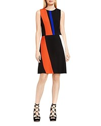Vince Camuto Color Block Sheath Dress Vivid Flame