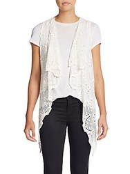 Xcvi Water Lily Lace Vest Sugar