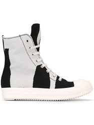 Rick Owens Drkshdw Printed Hi Top Sneakers White
