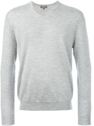 N.Peal 'The Conduit' V Neck Sweater Grey