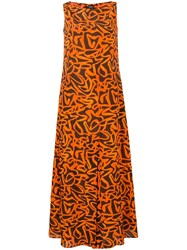 Aspesi Orange Silk Dress