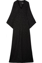 Brandon Maxwell Satin Jacquard Gown Black
