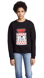 Michaela Buerger I Love You Perfume Bottle Sweatshirt Black