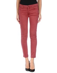 Mother Denim Pants Maroon