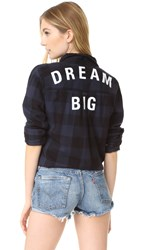 Sundry Dream Big Double Pocket Shirt Navy