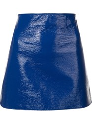 Courreges Vinyl Effect Skirt Blue