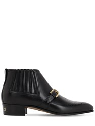 Gucci 30Mm Worsh Leather Boots Black