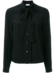 Red Valentino Tie Neck Shirt Black