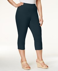 Styleandco. Style And Co. Plus Size Capri Pants Only At Macy's Industrial Blue