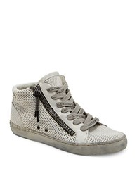 Dolce Vita Zabra Perforated Leather Sneakers White
