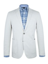 Paul Costelloe Cement Grey Cotton Jacket Grey Marl