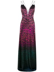 Saloni Tiger Print Ombre Gown 60
