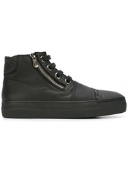 Rocco P. Zipped Hi Top Sneakers Black