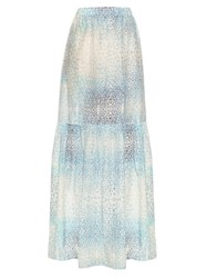 Athena Procopiou Little Lies Maxi Skirt Blue Multi