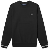 Fred Perry Authentic Crew Sweat Black