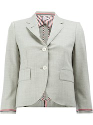 Thom Browne Cropped Blazer Jacket Grey