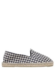Manebi Houndstooth Cotton Twill Espadrilles