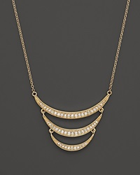 Bloomingdale's Diamond Crescent Pendant Necklace In 14K Yellow Gold .30 Ct. T.W. Yellow Gold White Diamonds