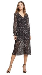 The Fifth Label Current Long Sleeve Midi Dress Midnight Floral