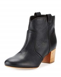 Laurence Dacade Belen Tumbled Leather Bootie Black