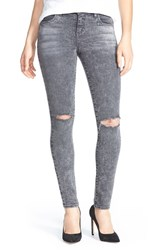 Women's Kut From The Kloth 'Diana' Distressed Stretch Skinny Jeans Grey Black