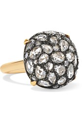 Fred Leighton Collection 18 Karat Gold. Sterling Silver And Diamond Ring 6