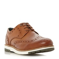 Barbour Palmer Contrast Leather Brogue Shoes Tan