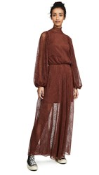 Beaufille Picasso Dress Burnt Sienna