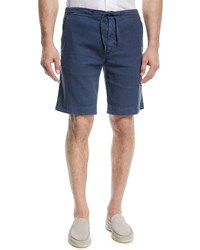 Loro Piana Linen Blend Bermuda Shorts Bright Blue