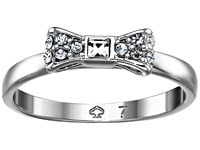 Kate Spade Ready Set Bow Ring Clear Silver