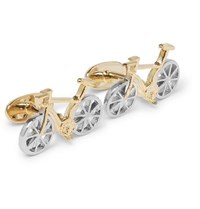 Paul Smith Bike Gold And Silver Tone Cufflinks