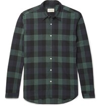 Oliver Spencer New York Special Slim Fit Checked Cotton Shirt Green