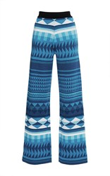 Stella Jean Vedere Knit Pants Light Blue