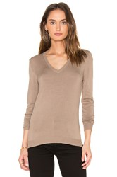 525 America V Neck Sweater Brown