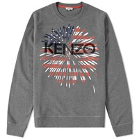 Kenzo Usa Crew Sweat Grey
