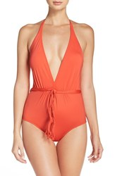 Seafolly Women's Halter One Piece Swimsuit