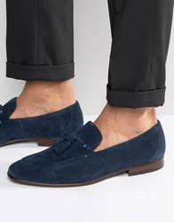 Dune Result Suede Tassel Loafers Navy