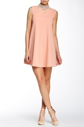 Gracia Studded Neck Tunic Dress Pink
