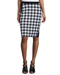 Michael Michael Kors Elgin Houndstooth Pencil Skirt