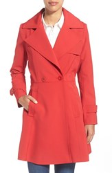 Women's Trina Turk 'Phoebe' Double Breasted Trench Coat Red