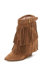Jerome Dreyfuss Biboots Fringe Wedge Booties Datte