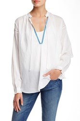 Zadig And Voltaire Tanya Embroidered Peasant Blouse White