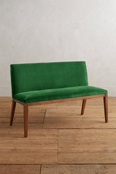 Anthropologie Velvet Emrys Bench Green