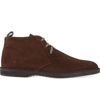 Corneliani Boston Suede Desert Boots Brown