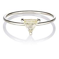Grace Lee Women's Trillion Diamond Ring No Color