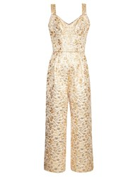 Dolce And Gabbana Floral Brocade Wide Leg Jumpsuit