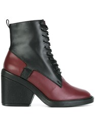 Robert Clergerie Panelled Lace Up Boots Black
