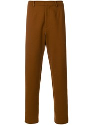 Pringle Of Scotland Relaxed Trousers Cotton Brown