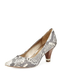 Circa Joan And David Daily Snake Print Pump Natural