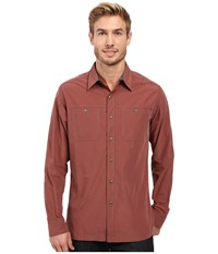 Kuhl Bakbone Long Sleeve Shirt Rusted Sun Men's Long Sleeve Button Up Red